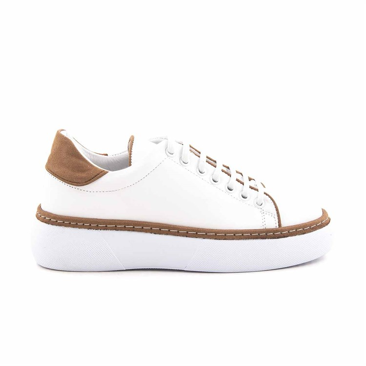 Rouge Leather Laced Womens Casual Shoes 15240